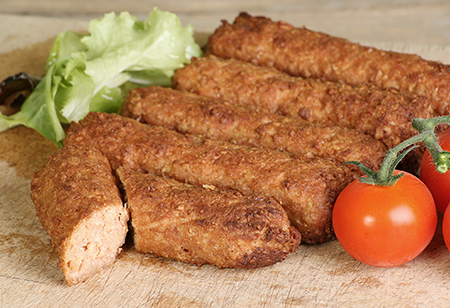 Whole grain breakfast sausages