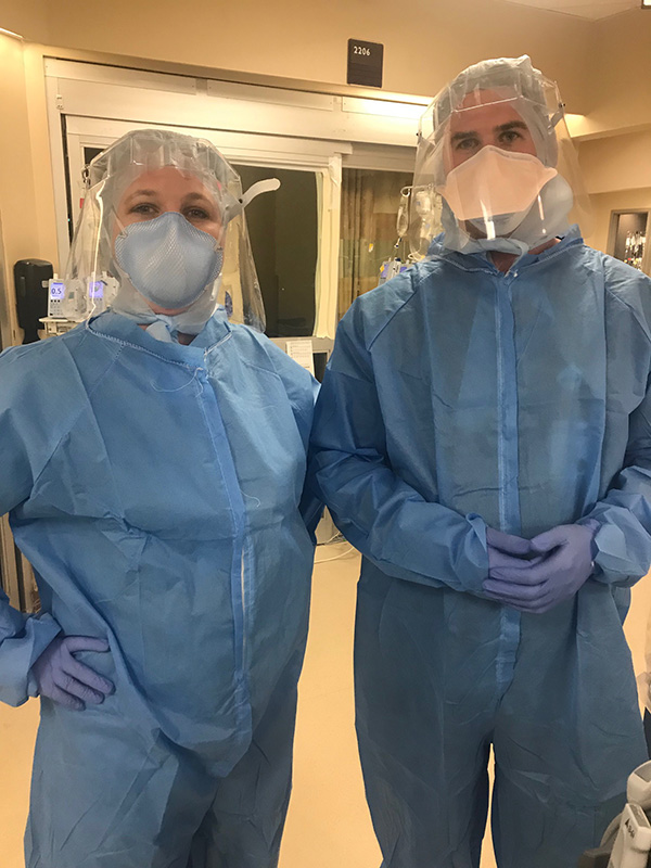 Internal medicine residents geared up with PPE