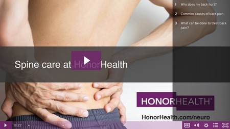 Spine surgery – second opinion from HonorHealth: Dr. Deogun