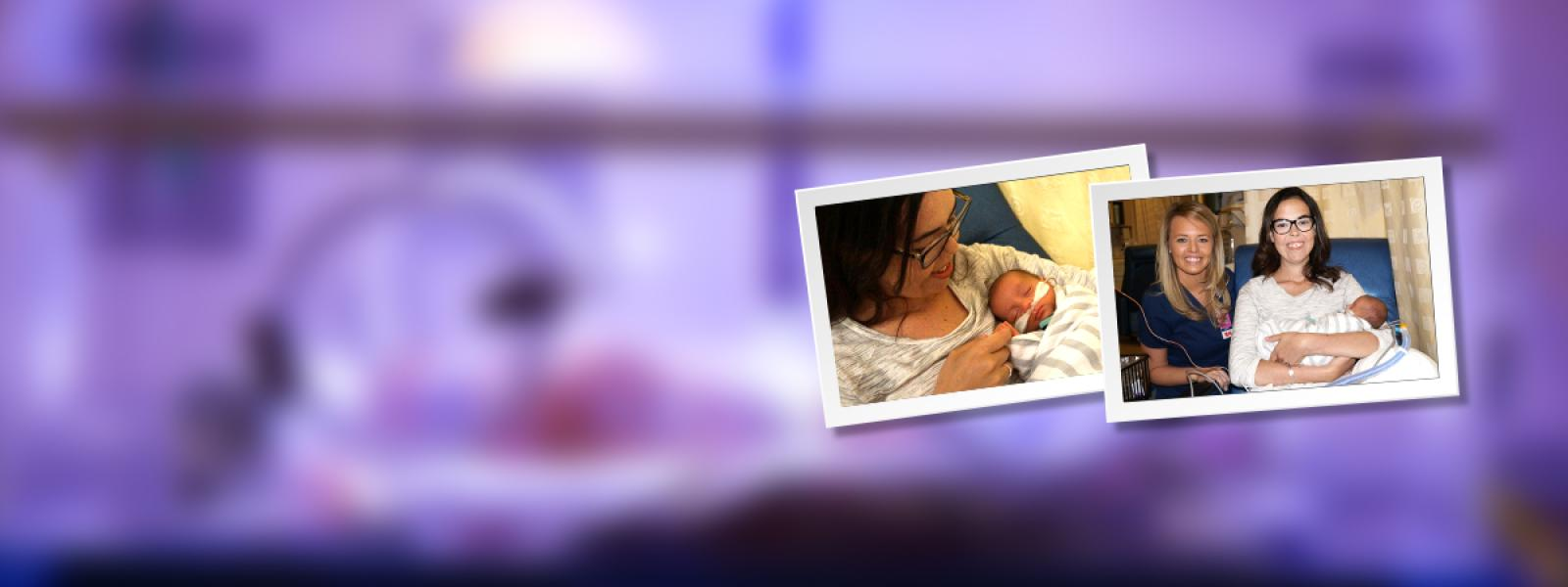 Tiny NICU baby writes mommy in ICU